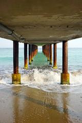 Under the pontoon (Dumby) Tags: landsacpe goldensands bulgaria pontoon blacksea mareaneagră beach travel