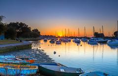 Quay Sunrise (nicklucas2) Tags: seascape christchurch quay river stour water boat yacht dinghy swan duck bird sunrise dorset