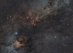 Fragment of the Milky Way in the constellation of Cygnus (martaseidler) Tags: astrophotography milkyway astronomy stars nebula nightsky night sky