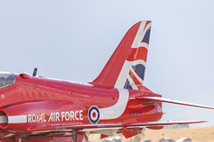 Red Arrows after their flight