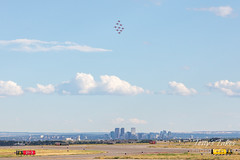 The Red Arrows in formation over Denver