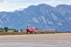 Red Arrows in front of the Flatirons