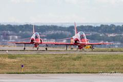 Red Arrows taxiing