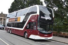 Lothian Buses Volvo B8L 1077 SJ19OWP - Edinburgh (dwb transport photos) Tags: lothian buses volvo alexander dennis enviro 400xlb 1077 sj19owp bus edinburgh decker lothiancity