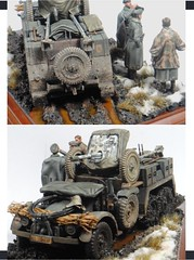 P093 (kevin_townsend1961) Tags: krupp protze 148 tamiya icm figures diorama vignette plastic model groundwork bases howto painting blackdog conversion accessory 37cm 37mm pak cooks zeltbahn barbarossa rasputitsa german ww2 truck fieldkitchen rations composition detailing tarps weathering preshade dust mud epoxyputty