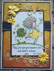 Bounty Card (janettefuller) Tags: card handmade handmadecard bounty flowers bibleverse girl heaven blessings yellow papercrafts cardmaking crafts digitalstamp digitalpaper momanning mosdigitalpencil encouragement diecuts