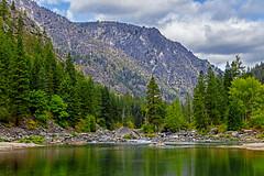 reflection (randyandy101) Tags: reflection river washingtonstate wenachee mountains forest water lake trees green rocks
