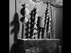 Industrial bits (martinlitchfield777) Tags: drill bits bowes railway monochrome bw drillbits bowesrailway canon5d