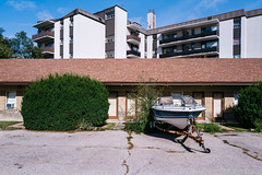 for.the.time.being (jonathancastellino) Tags: toronto architecture motel hotel leica q2 vernacular boat lot parking building apartment bush series sky