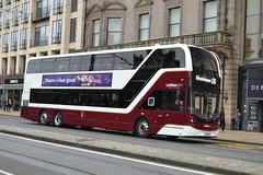 Lothian Buses Volvo B8L 1107 SJ19OYH - Edinburgh (dwb transport photos) Tags: lothianbuses lothiancity volvo alexander dennis enviro 400lxb bus decker 1107 sj19oyh edinburgh