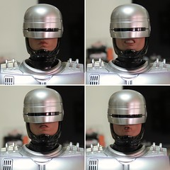 The many faces of Robocop (imranbecks) Tags: hot toys robocop mms202d04 mms202 mms movie masterpiece diecast peter weller alex murphy 16 scale collectible figure orion pictures mgm metrogoldwynmayer studio 1987 future law enforcement face faces many