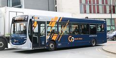 Go North West, Manchester 64000 YX62DKL on Shudehill with a Langley bound 18 service. (Gobbiner) Tags: enviro gonorthwest 64000 adl manchester yx62dkl goaheadgroup e200 ctplus da7 gonorthwestcouk
