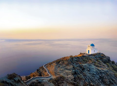 Magic light (Bo.Th) Tags: greece holidays religion rocks mountain sea sky seascape sun stones sunset structure silence stone summer water relax romantic rock dreaming travel sidewalk stairs moody history outdoor building church light view colors landscape calm walk sifnos