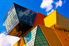 _MG_5916 (Mikhail Lukyanov) Tags: architecture building modern fragment roof vibrantcolors sky clouds blue orange yellow