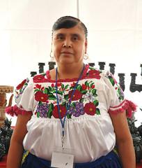 Audencia Cerano Purepecha Artisan Mexico (Teyacapan) Tags: mujer woman purepecha michoacan mexico blouse blusa ropa clothing