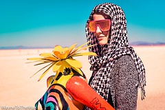 Deep Playa Desert Flower (WayneToTheMax) Tags: burning man 2019 connections oxana belka art installation scarf head wrap flower desert nikon d750