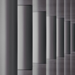 Abstract Pillars #1 (2n2907) Tags: blackwhite cylinder cylinders perspective gallery pillars shadow reflection abstract reflections