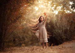 Caught ({jessica drossin}) Tags: jessicadrossin girl kid hair long leaf overlay jdautumntones actions fall autumn orange season leaves beautiful dress weather seasons wwwjessicadrossincom childhood portrait natural light