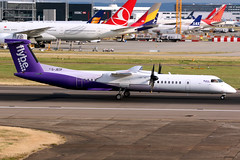 Flybe | Bombardier Q400 | G-JECP | London Heathrow (Dennis HKG) Tags: flybe bee be aircraft airplane airport plane planespotting turboprop canon 7d 70200 london heathrow egll lhr bombardier dash8 q400 dhc8 gjecp