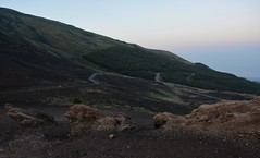 Road on Etna (EvenHarbo) Tags: etna volcano vulkan nikond7100 nikon sicilia sicily italia italy mountain road evening landscape forest mongibello