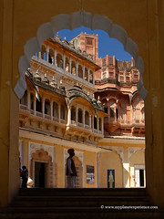 Jodhpur, Rajasthan - India (My Planet Experience) Tags: mehrangarh mehran fort castle palace jodhpur rajasthan culture architecture historic building entrance door gate people traditional clothes horizontal day color india भारत ind wwwmyplanetexperiencecom myplanetexperience