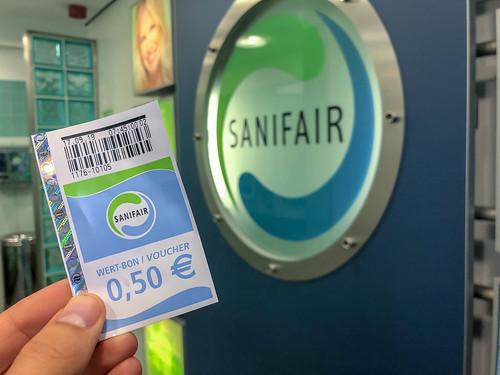 Sanifair Voucher with a 0.50€ value