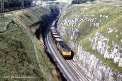 07/09/1988 - Peak Forest, Derbyshire. (53A Models) Tags: britishrail brush type4 railfreight class47 diesel freight peakforest buxton derbyshire train railway locomotive railroad