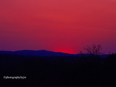 Red Sunset (Photographybyjw) Tags: red sunset this was shot foothills western north carolina ©photographybyjw rural country tree