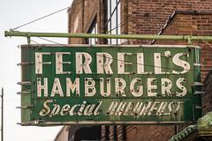 Ferrell's hamburgers (sniggie) Tags: ferrellshamburgers ferrellssnappyservice hopkinsville kentucky hamburgerjoint shuttered sign signage vintagesign us41 usroute41