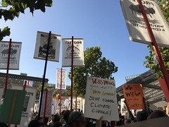 Climate strike signs (artnoose) Tags: 2019 california sanfrancisco signs sf protest march strike climate
