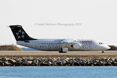 "Swiss International Air Lines HB-IYU British Aerospace Avro RJ100 cn/E3379 painted in ""Star Alliance"" special colours wfu 30 Jun 2017 std at EGTC 3 Jul 2017 @ LFMN / NCE 14-12-2013 (Nabil Molinari Photography) Tags: swiss international air lines hbiyu british aerospace avro rj100 cne3379 painted staralliance special colours wfu 30 jun 2017 std egtc 3 jul lfmn nce 14122013"