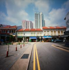 Space at a premium (Zeb Andrews) Tags: zeroimage kodakektar100 singapore littleindia travel film pinhole mediumformat 6x6 housing streetphotography urban cityscape zaahphoto southeastasia aroundtheworld