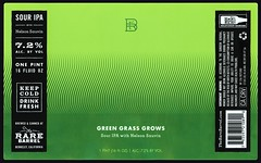 GREEN GRASS GROWS by David Singer for The Rate Barrel (Label_Craft) Tags: beer beers craftbeer brew suds ale hops labels craft labelcraft beerlabel design illustration type fonts burp beerme brewery therarebarrel rarebarrel souripa sourale nelson sauvin berkeley ca