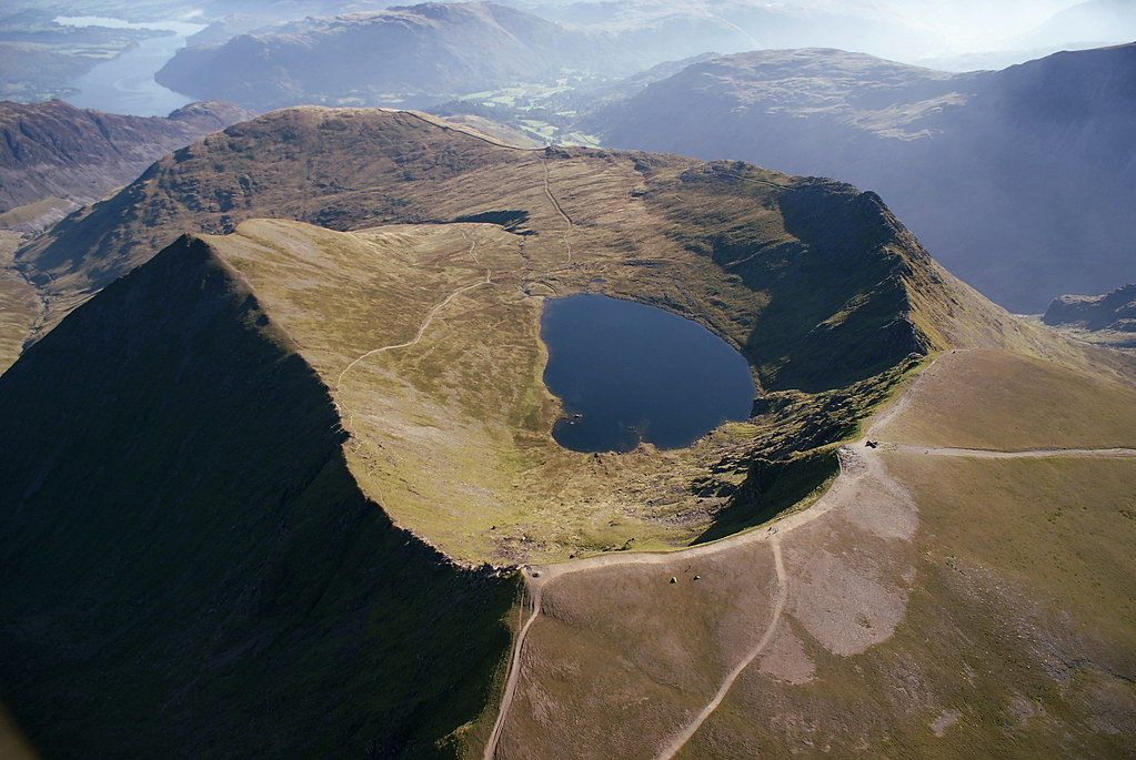 Campers on top of the magnificant Helvellyn