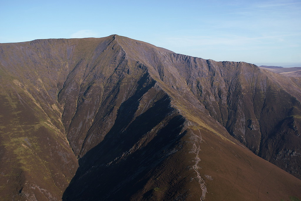 Looking upwards to the Hall's Fell route up Blencathra