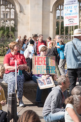Here, queer, fear (Stray Toaster) Tags: cambridge climate strike kings college