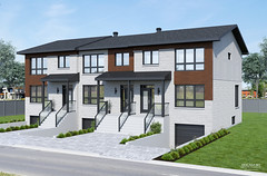 Contemporary triplex design imaged in realistic 3D renderings and 3D visuals made by GOCAM 3D™, www.gocam.ca (GOCAM3D) Tags: gocam3d gocam go3d wwwgocamca triplex condominiums condominium condos condo housing realestate architecture construction exterior facade design modern contemporary 2019 2020 porch entrance stairs stair driveways driveway garages garage doors door roof shingles windows day daylight sun sunlight sky clouds landscaping trees tree bushes plants grass greenery bricks glass stones stone concrete pavement vinyl siding canada quebec montreal laval mirabel sainteustache terrebonne longueuil brossard laprairie saintjeansurrichelieu bromont magog sherbrooke troisrivieres ottawa gatineau hull toronto edmonton vancouver