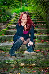 on the steps (Neil Adams Photography (Wirral)) Tags: lowlight lowkey sensual beautiful model female girl woman