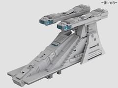 Venator WIP #4 (thire5) Tags: lego wip spaceship cruiser model