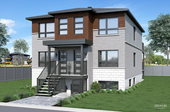 Contemporary triplex design 2 imaged in realistic 3D renderings and 3D visuals made by GOCAM 3D™, www.gocam.ca (GOCAM3D) Tags: gocam3d gocam go3d wwwgocamca triplex condominiums condominium condos condo housing realestate architecture construction exterior facade design modern contemporary 2019 2020 porch entrance stairs stair doors door shingles windows day daylight sunlight sun sky clouds landscaping trees tree bushes plants grass greenery bricks glass stones stone concrete pavement vinyl sidings siding canada quebec montreal laval mirabel sainteustache terrebonne longueuil brossard laprairie saintjeansurrichelieu bromont magog sherbrooke troisrivieres ottawa gatineau hull toronto edmonton vancouver