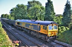 66712 (stavioni) Tags: class66 shed diesel rail railway freight train gbrf gb railfreight