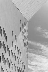 La-MECA-2 (christophe surman) Tags: aquitaine bordeaux meca architecture sky minimalism blackandwhite blackwhite monochrom perspective geometry