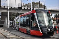 Sydney Light Rail - LRVs 027 & 028 at Moore Park (john cowper) Tags: sydneylightrail cselr moorepark alstom citadisx05 construction altrac transportfornsw transdev drivertraining testing lrv011 lrv012 lrv027 lrv028 lrv023 lrv024 lrv037 lrv038 sydney newsouthwales