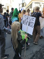 Save Mirkwood (artnoose) Tags: tolkien hobbit lotr sign mirkwood save elf legolas kid march strike climate sanfrancisco sf