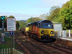 70812 Bodmin Parkway (Marky7890) Tags: colasrail 70812 class70 6c97 bodminparkway railway cornwall cornishmainline train