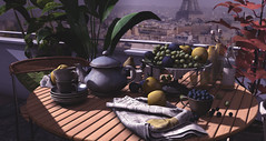 Parisian Breakfast (logan.fourniersl) Tags: secondlife sl virtualworld pixelart digitalart blog kustom9 nutmeg design homeandgarden homedecor home decor