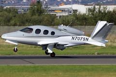 N707SN (GH@BHD) Tags: n707sn cirrusdesign sf50 visionjet visionjetinc bhd egac belfastcityairport bizjet corporate executive aircraft aviation