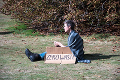 Zero waster (Stray Toaster) Tags: cambridge climate strike kings college