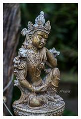 Estátua Tibetana (Claudio Arriens) Tags: tibet sonynexf3 carlzeissjenatessar50mmf28 manuallens m42 oldlens manualfocus