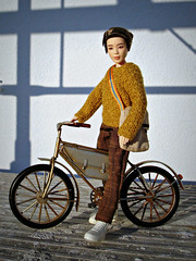 Sunny autumn day (Deejay Bafaroy) Tags: bts jimin mattel doll puppe male homme portrait porträt outdoors draussen redressed bag tasche bicycle fahrrad velo 16 scale playscale miniature miniatur sunny sonnig